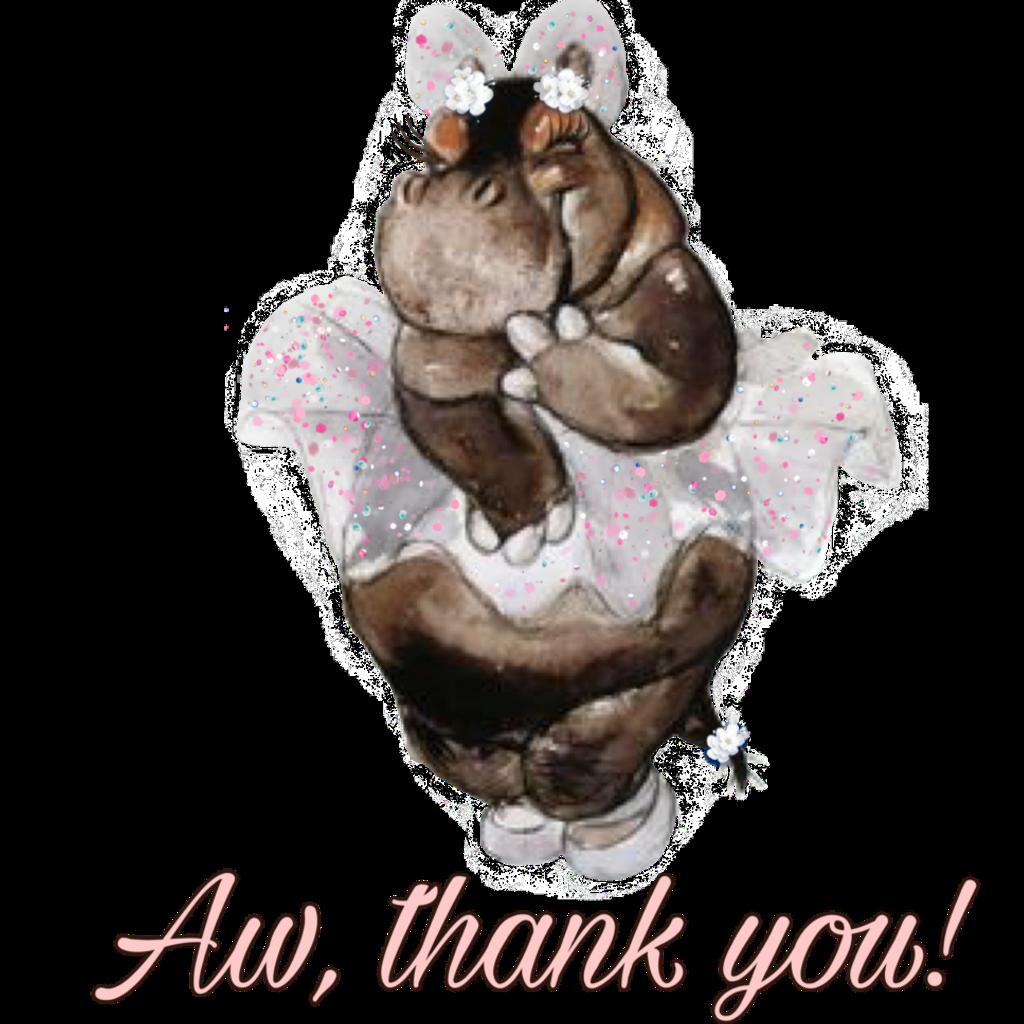 #freetoedit #hippo #thankyou