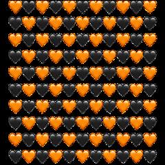 сердечки фон оранжевый черный чернооражевый freetoedit