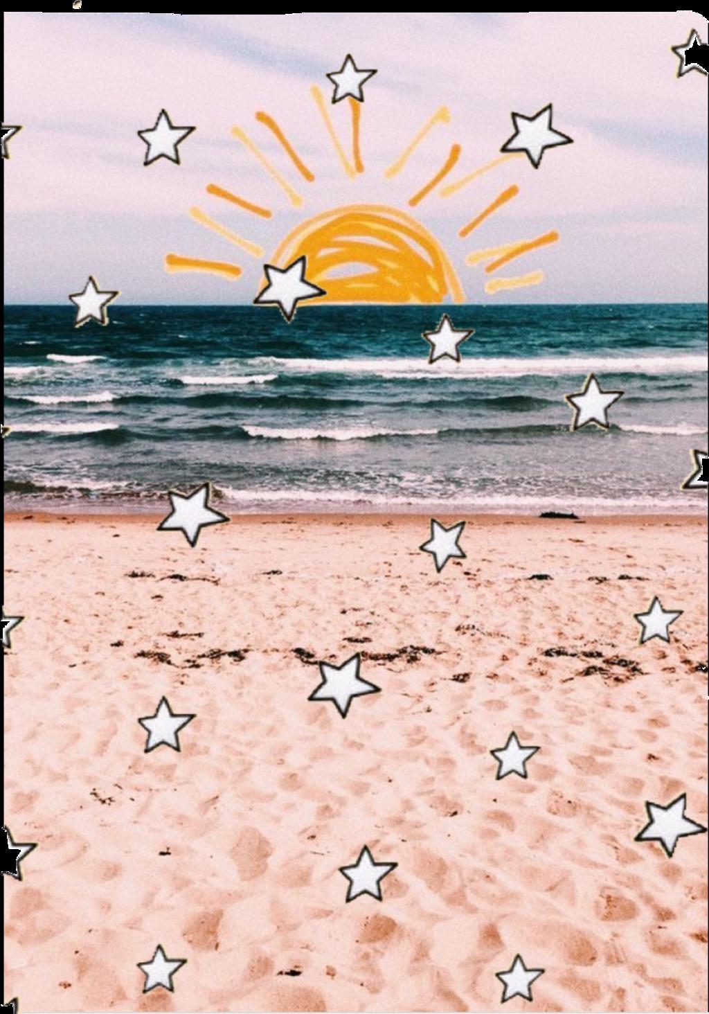#sticker #summer #vsco #stars #sunshine #sun #sea #beach #waves