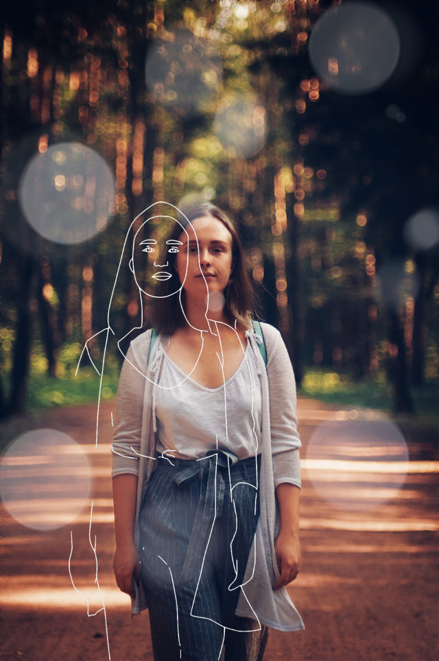 #freetoedit #remixed #picsart #woman #forest #wood