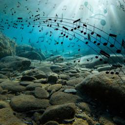 freetoedit sea ocean music notes