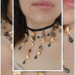 handmade handmadejewelry beadsandwire crystalsbeads motherofpearl