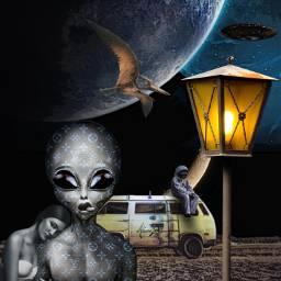 freetoedit alien girl space fantasy ircvintagevan