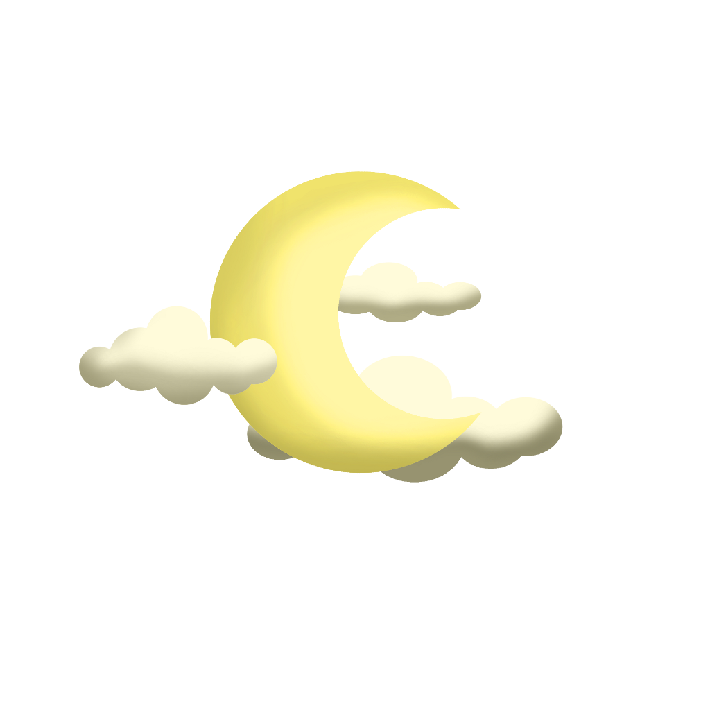 #ftestickers #cartoon #clouds #moon #crescent #aesthetic #yellow