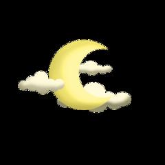 ftestickers cartoon clouds moon crescent freetoedit