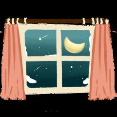 ftestickers window curtains nighttime stars freetoedit
