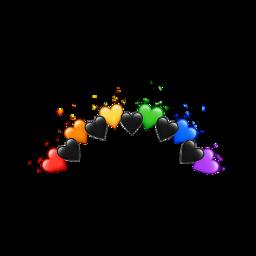 heart rainbow crown emoji freetoedit ftestickets