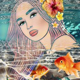 freetoedit pose lovelygirl longhair underwater