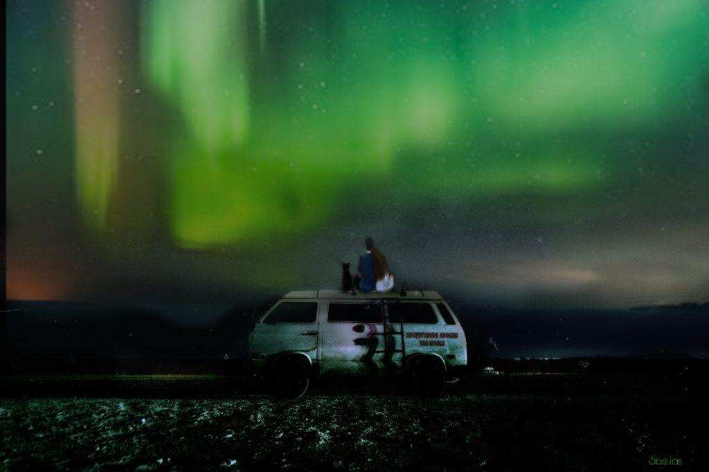 18th in challenge #auroraborealis  #freetoedit #adventure #travel #ircvintagevan #vintagevan