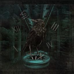 editedbyme timeflies raven darkart doubleexposure