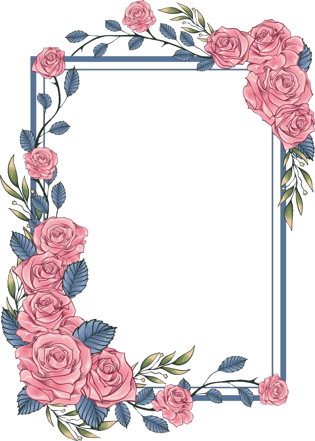 #rose #square #frame #geometric #colorful #kpop #wedding #layers #overlay #marks #painting #watercolor #broder