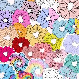 aesthetic pastel scrunchies vsco vscogirl freetoedit