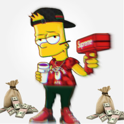 bartsimpson edit supreme rich freetoedit
