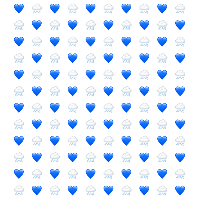 #emoji #pattern #blue #heart #rain #water #stickers #freetoedit