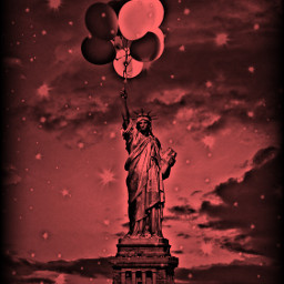 freetoedit colorizeeffect statueofliberty remixed balloons