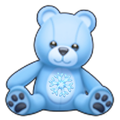 teddybear emoji aesthetic blue cold freetoedit