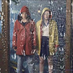 freetoedit ketchupandmustard elandmax strangerthings raincoat ecrainyseason