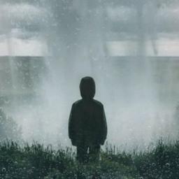 freetoedit rainyday boy silhouette waterfall ecrainyseason rainyseason