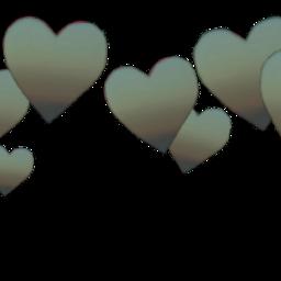 crown green gradient heart hearts freetoedit