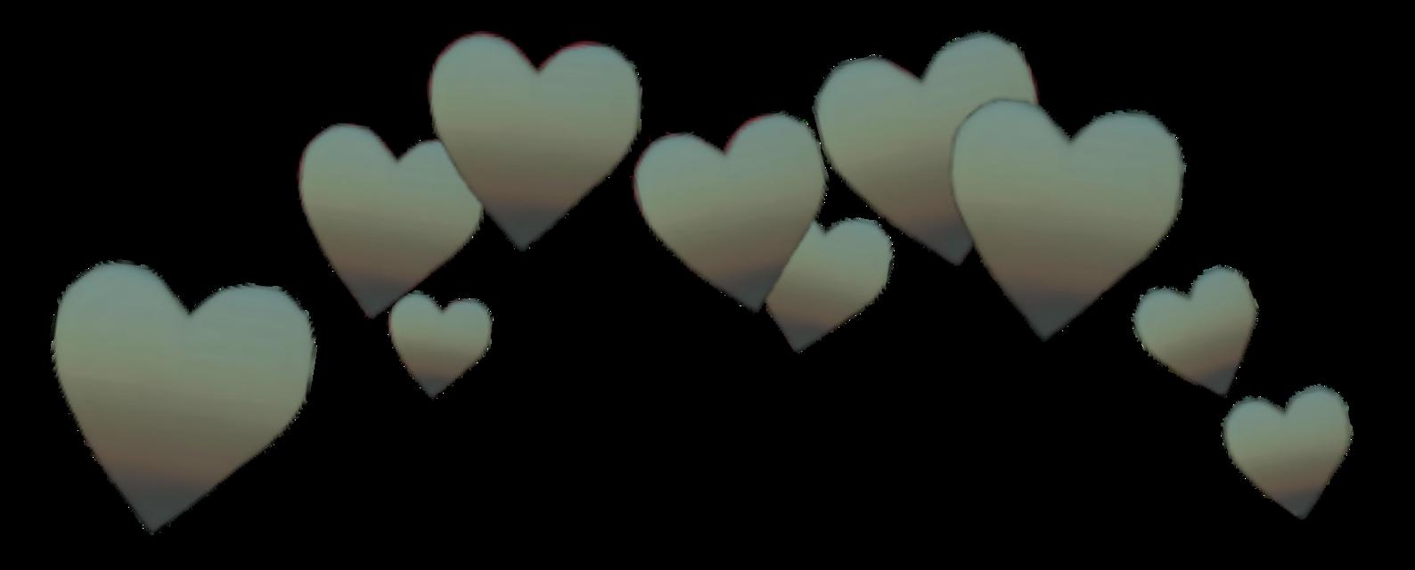 #crown #green #gradient #heart #hearts #brown