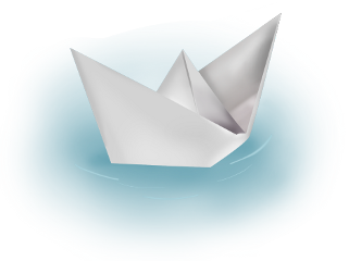 ftestickers water boat paperboat origami freetoedit