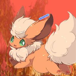 freetoedit flareon pokemon fire