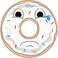 donut sad teardrop sweet freetoedit