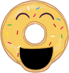 donut yellow happy smiling laughing freetoedit