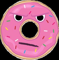 donut pink grumpy cute freetoedit