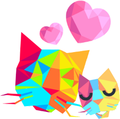 oragami cats momandbaby purrrfect freetoedit scorigamistickers origamistickers