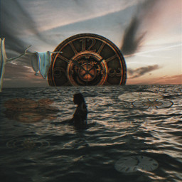 freetoedit watch surreal clock myedit tumblr girl woman cool weird like love art photography photograph amazing awesome makeawesome picsart aesthetic grunge