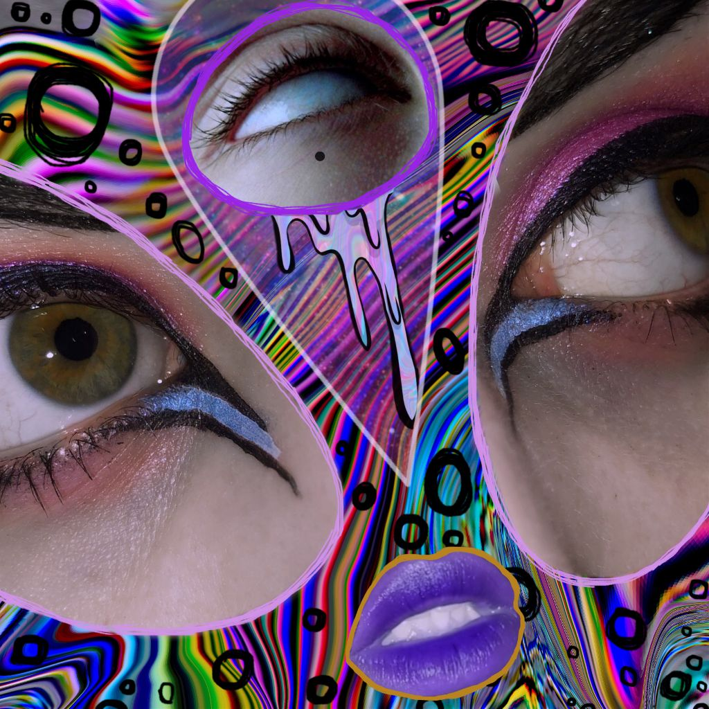 👀🌸👁🌸👀 𝕹𝖎𝖌𝖍𝖙𝖒𝖆𝖗𝖊 𝖋𝖚𝖊𝖑. . 👁👄👁 . I got wine drunk and made this weird ass shit, so enjoy and goodnight! 💜 #trippy #art #edits #makeupartist #hippygoth #goth #eyes #nightmare #multicolour #greeneyes #badtrip #texture #geometric #gothgirls  #freetoedit
