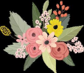 flowers flower bouquet leaves stickers ftestickers freetoedit