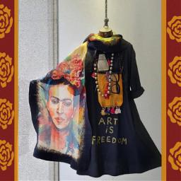 photo gift freedom art frida freetoedit