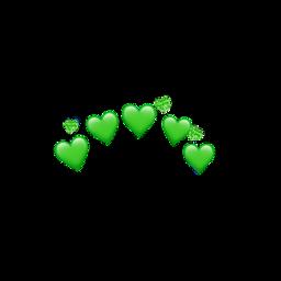heart heartcrown green freetoedit