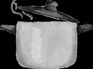 ftestickers watercolor soup pot cooker freetoedit scsoup
