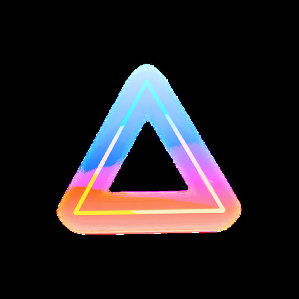 #neon #light #triangle #colorful