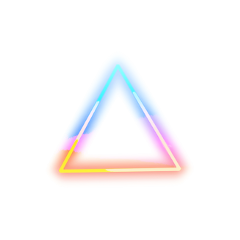 neon light triangle colorful freetoedit