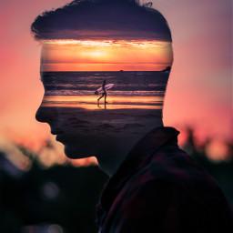 doubleexposure silhouette edit edited surreal