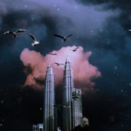 freetoedit picsart colorful skyscraper remixed