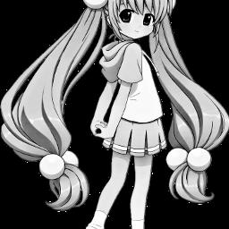 menina manga freetoedit scblacknwhite blacknwhite
