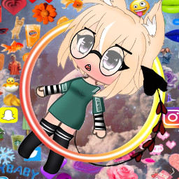 gachalife emojibackground rainbow circle neon freetoedit srcneoncircle neoncircle