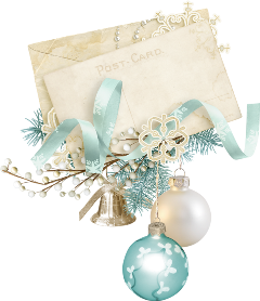christmas postcard ornaments freetoedit