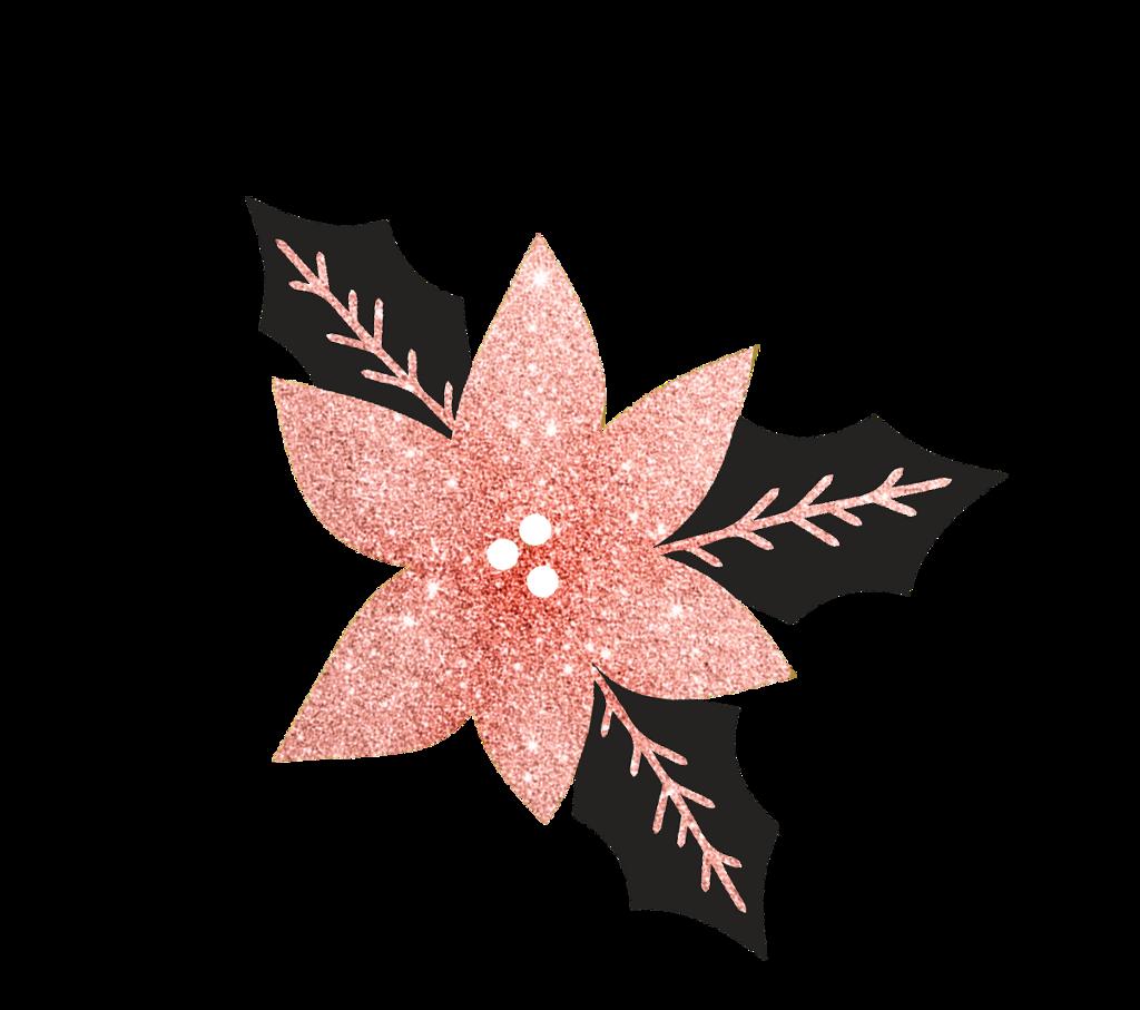 #christmas #christmasdecoration #sparkles #pink #leaves #flower #freetoedit