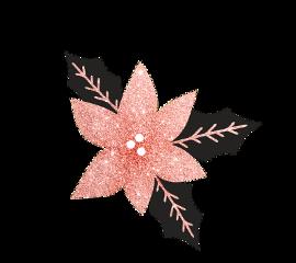 christmas christmasdecoration sparkles pink leaves freetoedit