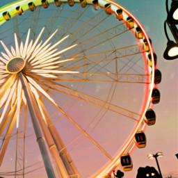freetoedit edit ferriswheel wheel nightlights srcneoncircle