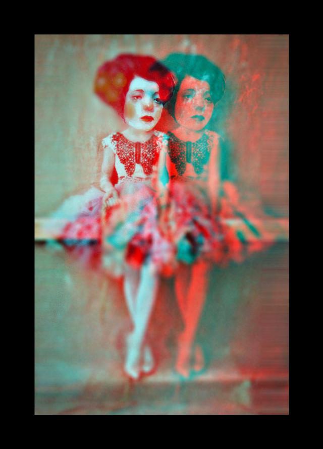 """Wallflowers""  #creepyart #glitch #photomanipulation #madewithpicsart #blur #overlays #border #myedit   #freetoedit"