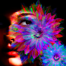 myoriginalwork originalart conceptart womanportrait colorful ecflowereyes flowereyes