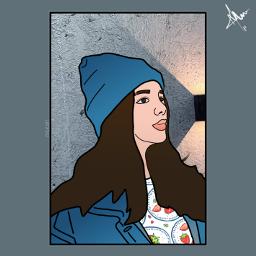 freetoedit art faceart girl outline draw freetoedit Background Backgrounds Arkaplan Duvarka Meeori