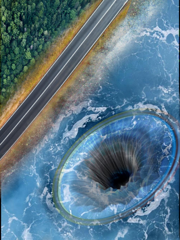 #freetoedit #oceanblue #hole #water #fantasy #picsartedit #distortion #neoncircle